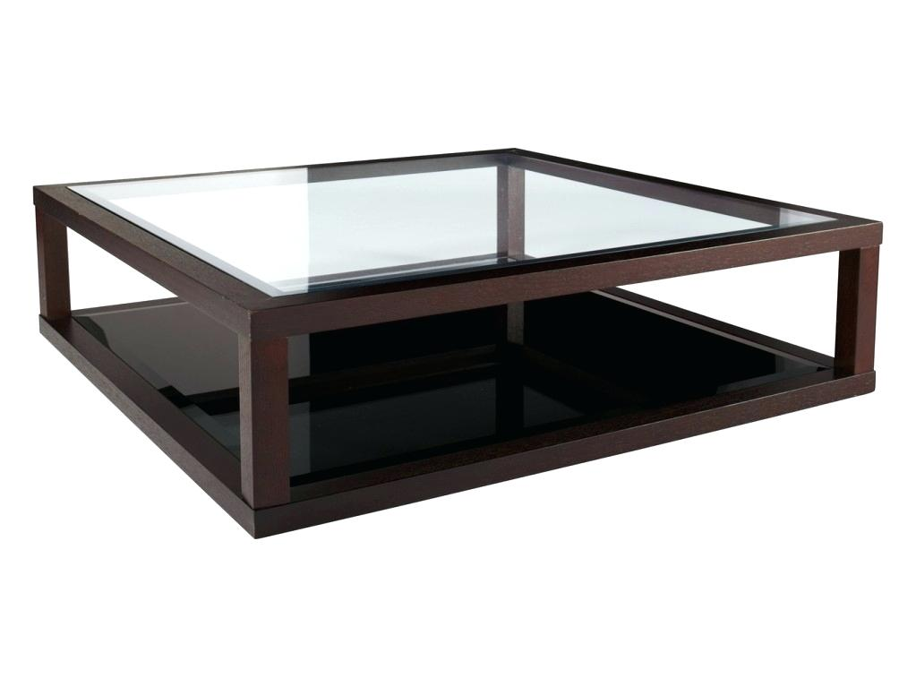 modern coffee table glass and wood photo - 6