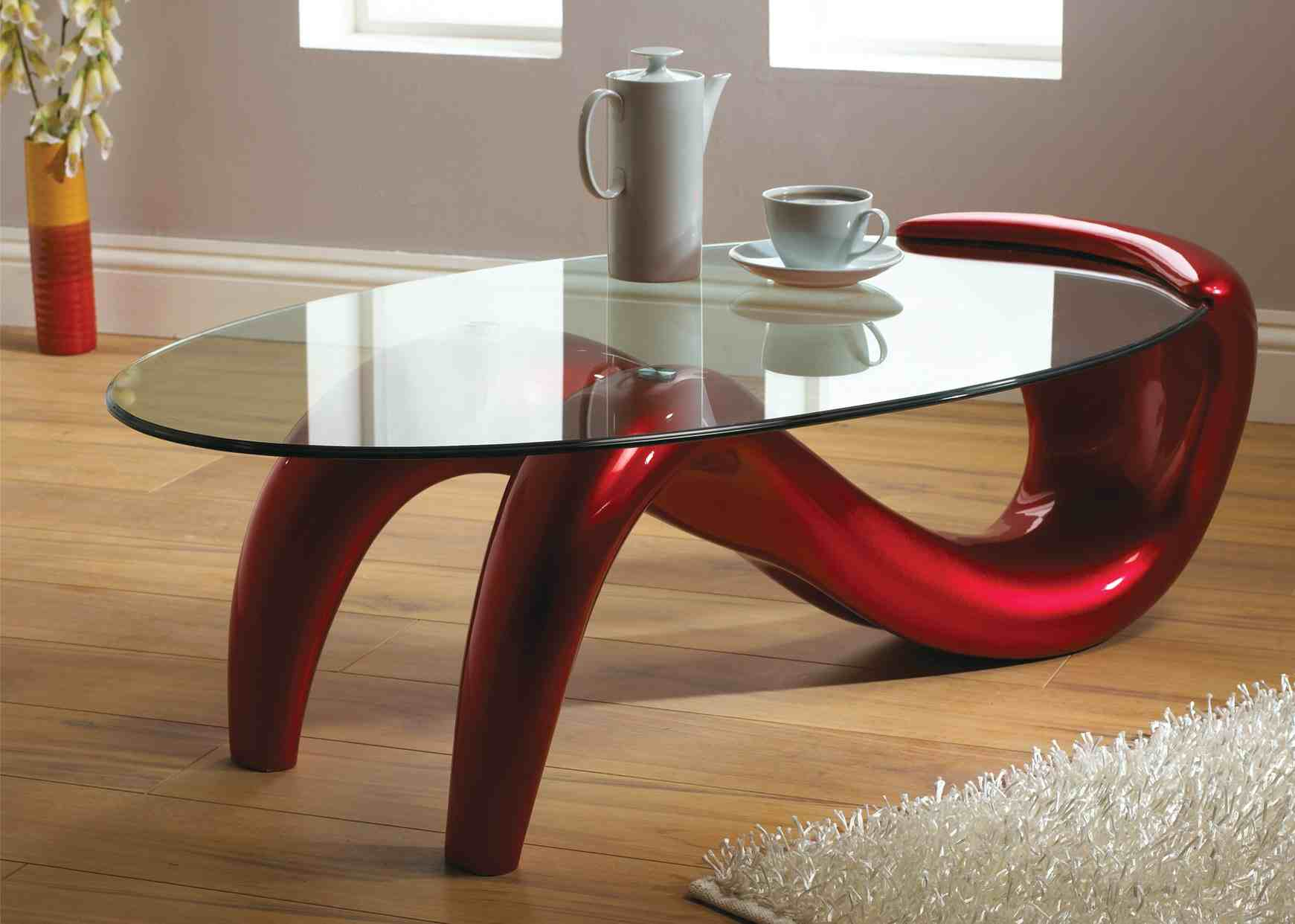 modern coffee tables glass photo - 7