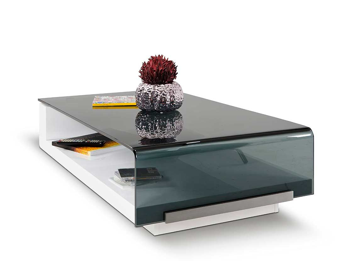 modern coffee tables glass top photo - 3