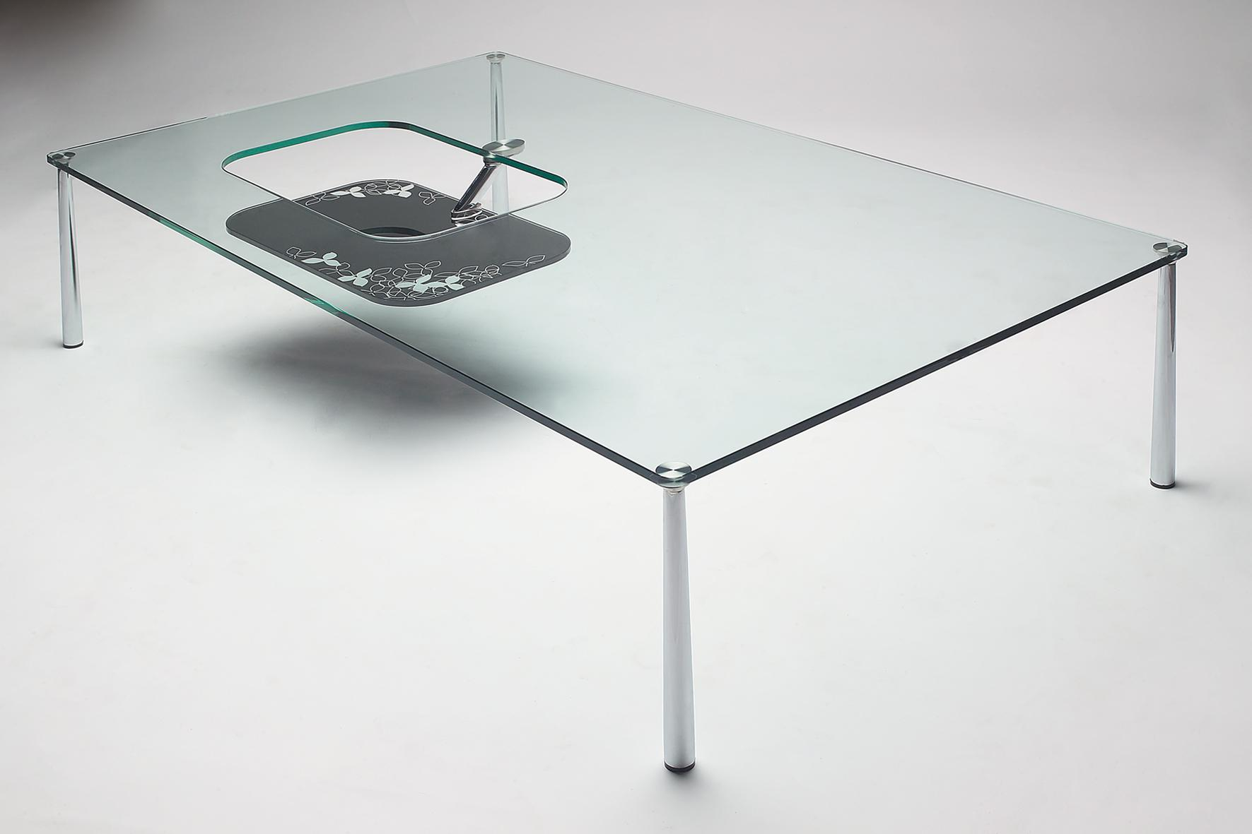modern coffee tables glass top photo - 6