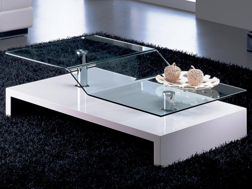modern coffee tables glass top photo - 7