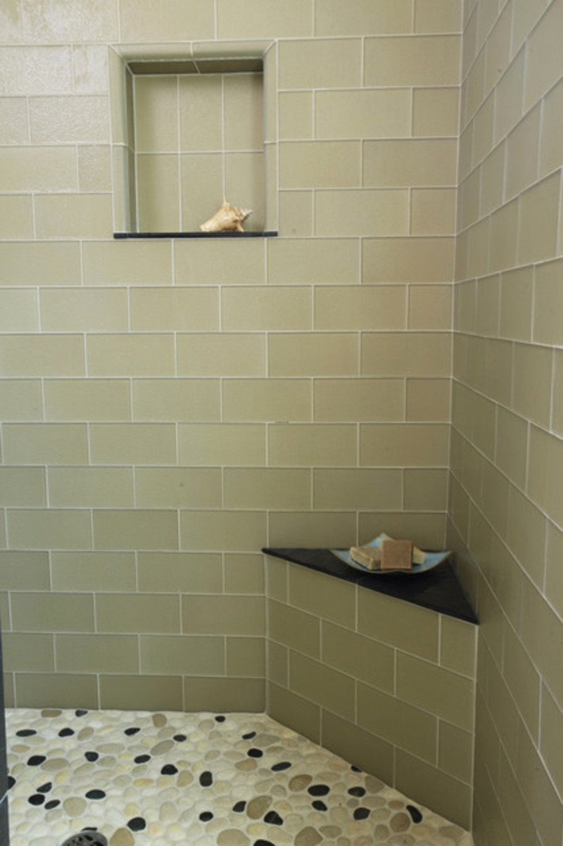 modern floor tiles bathroom photo - 10