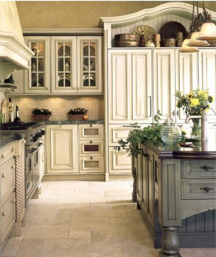 modern french country kitchen designs photo - 7