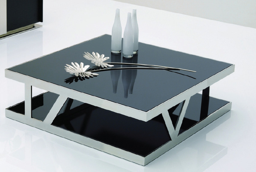 modern glass coffee table designs photo - 4