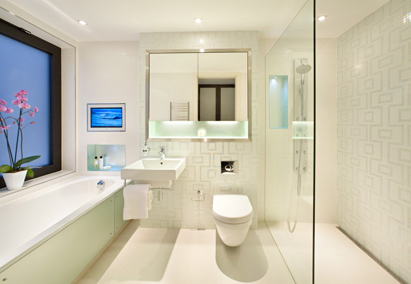 modern home bathroom design photo - 1