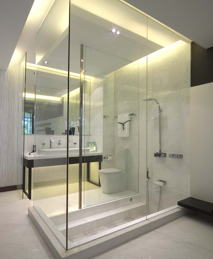 modern home bathroom design photo - 5