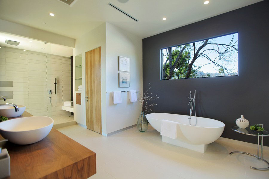 modern home bathroom design photo - 6