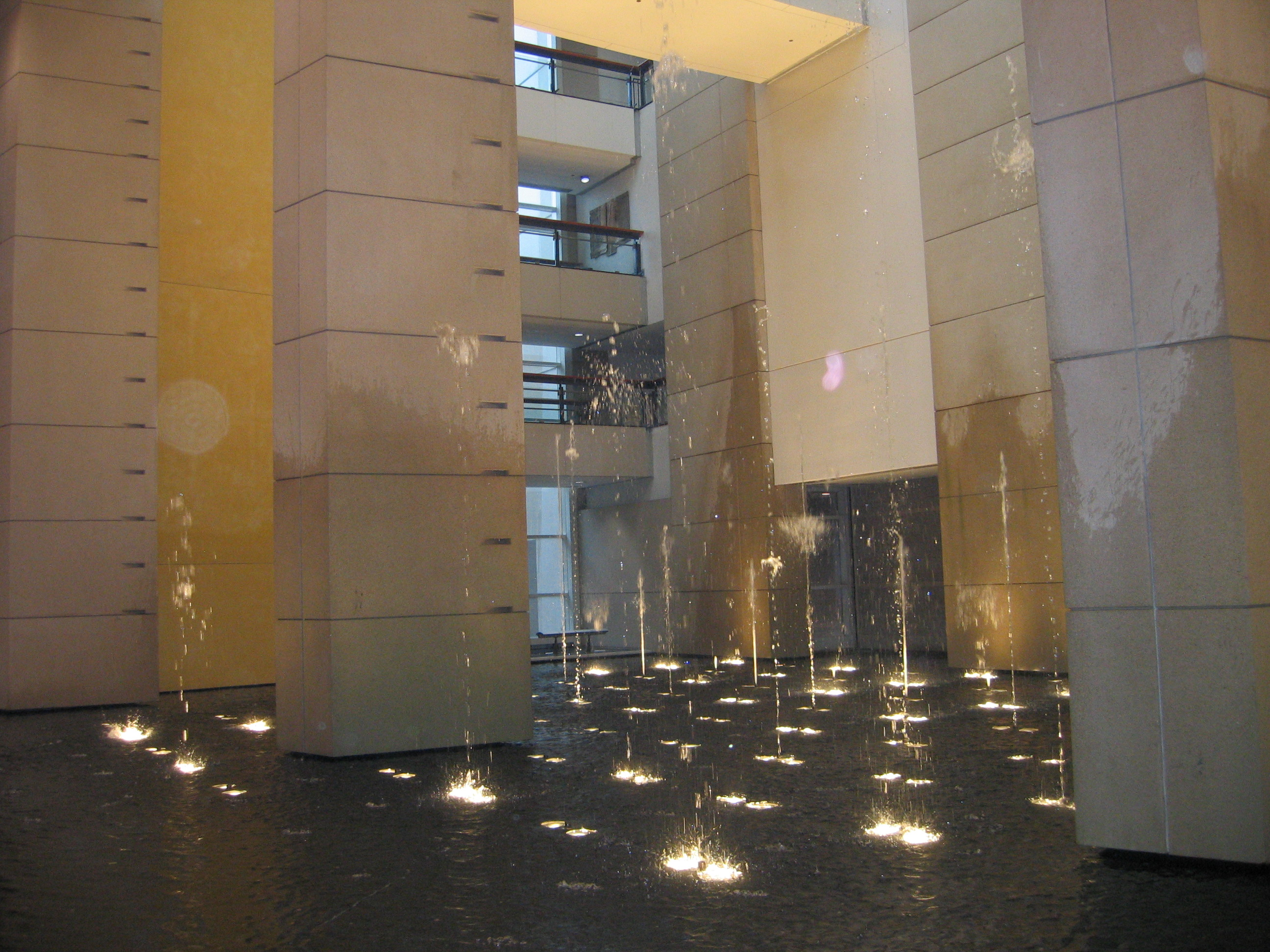 modern water fountains indoor photo - 7
