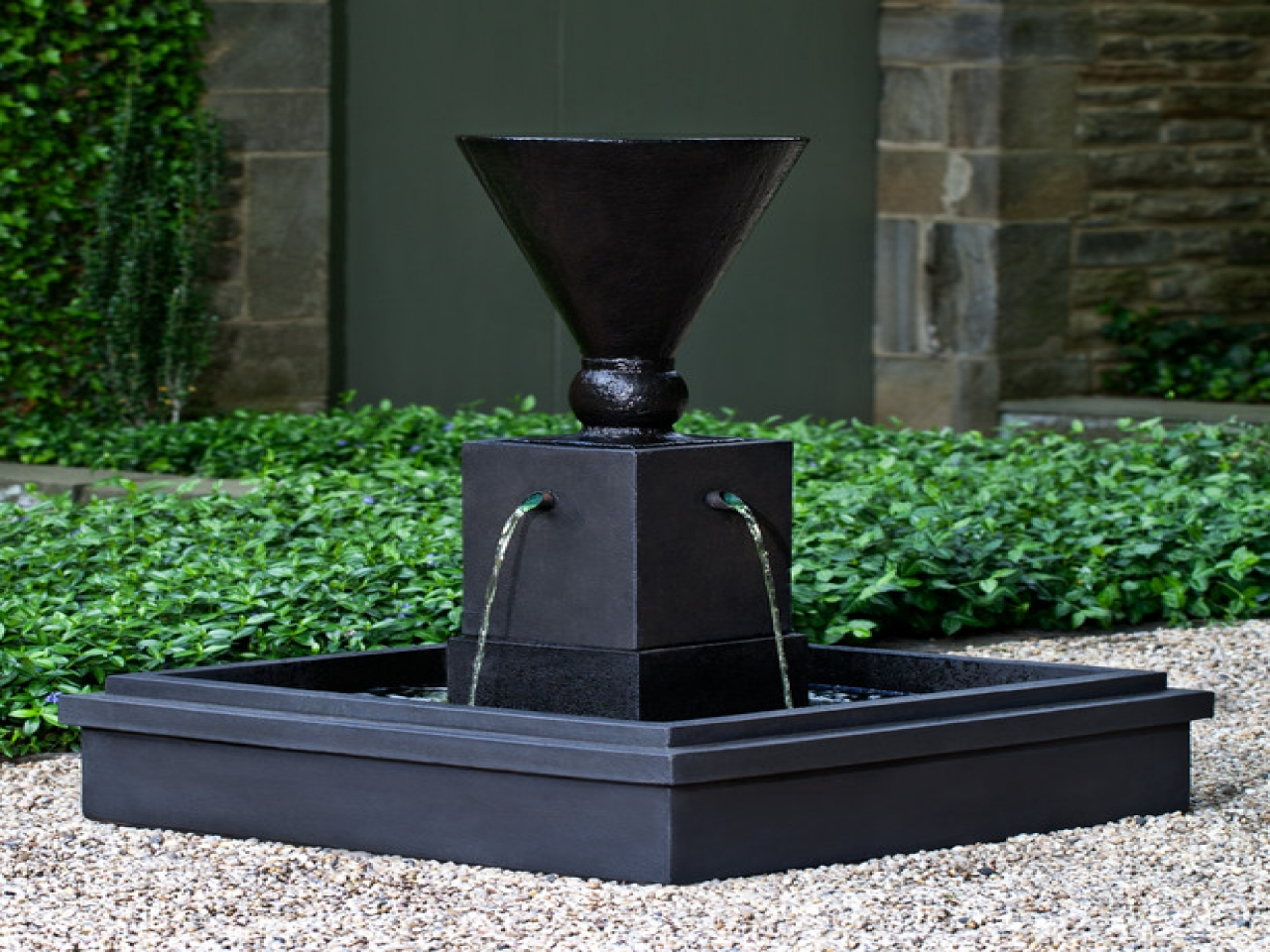modern water fountains outdoor photo - 7