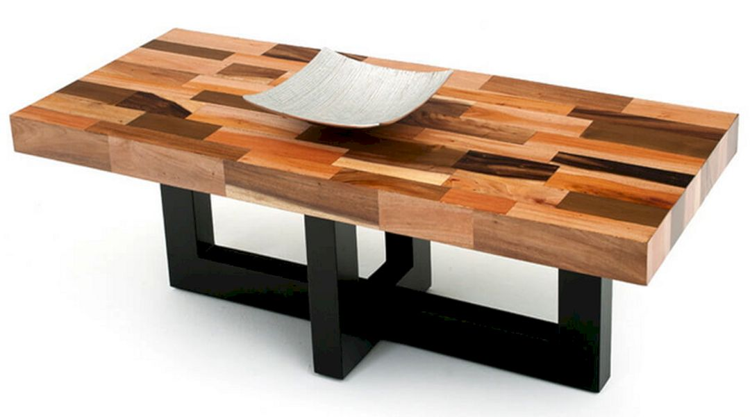 modern wooden coffee table designs photo - 1