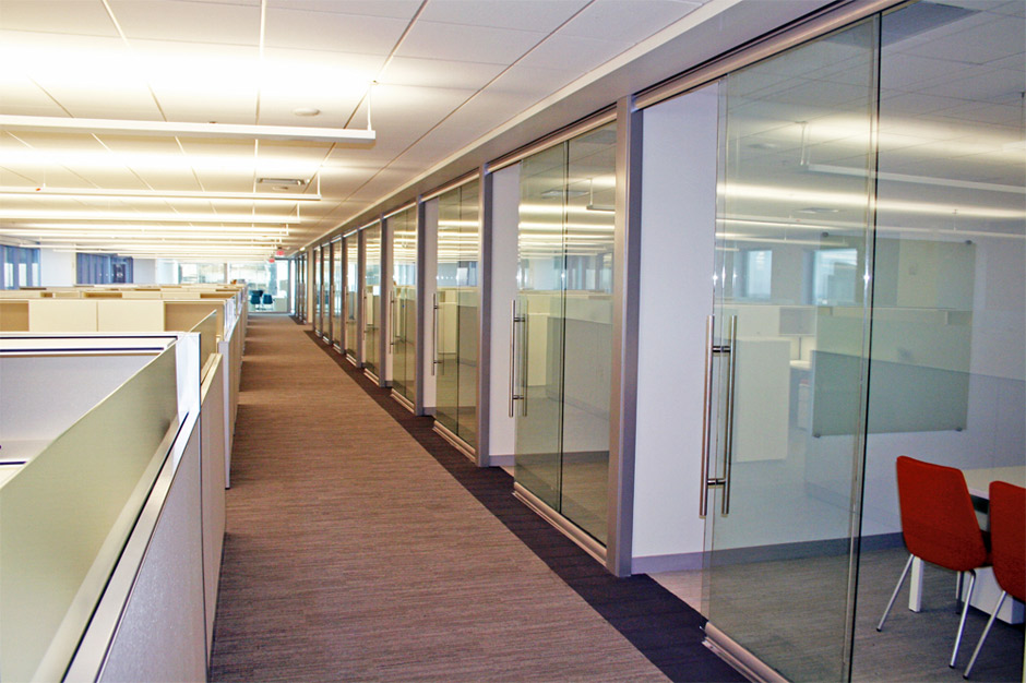 office interior glass walls photo - 6