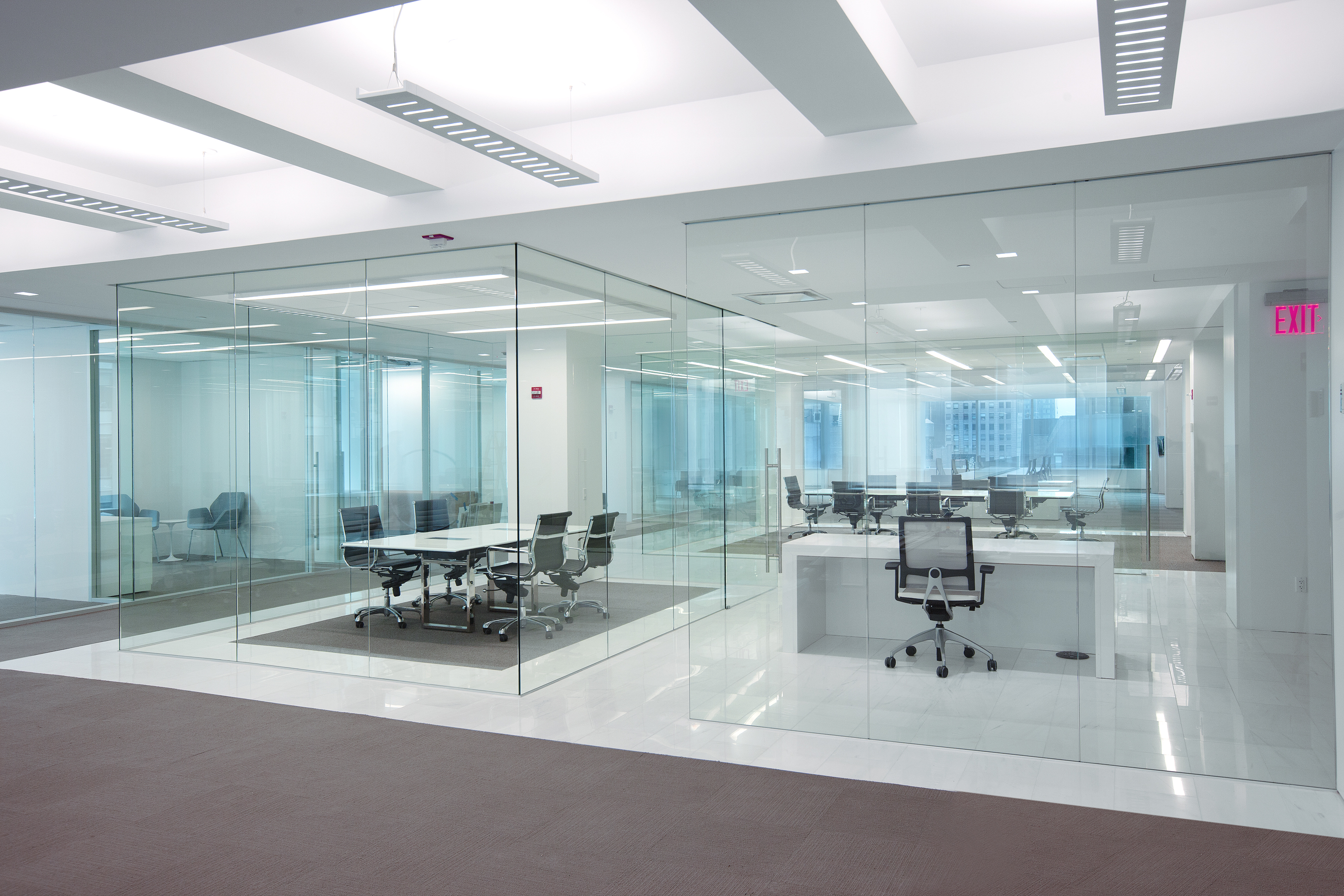 office interior glass walls photo - 9