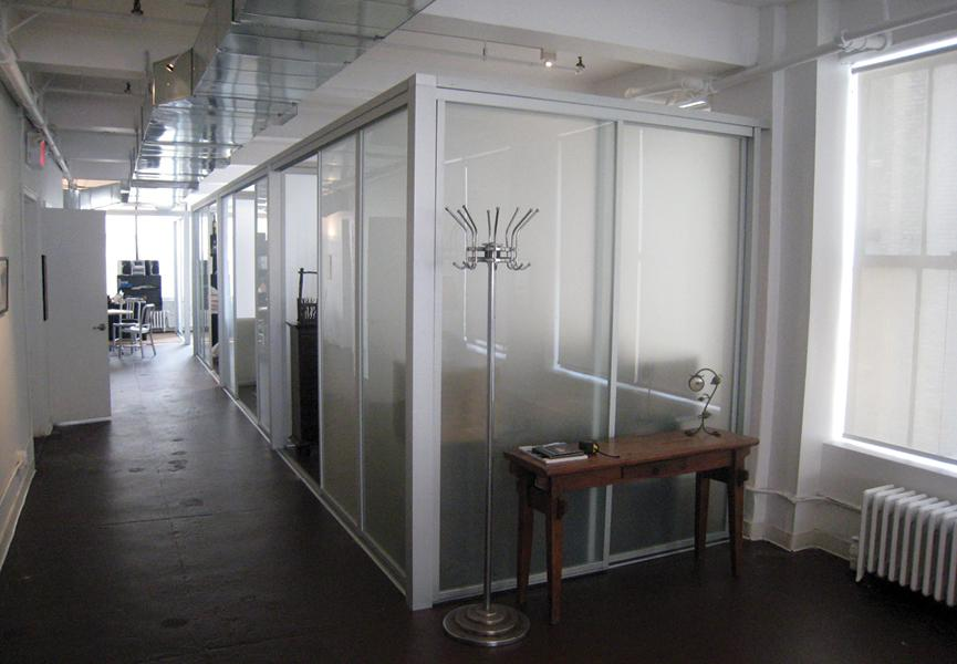 office partition glass walls photo - 6