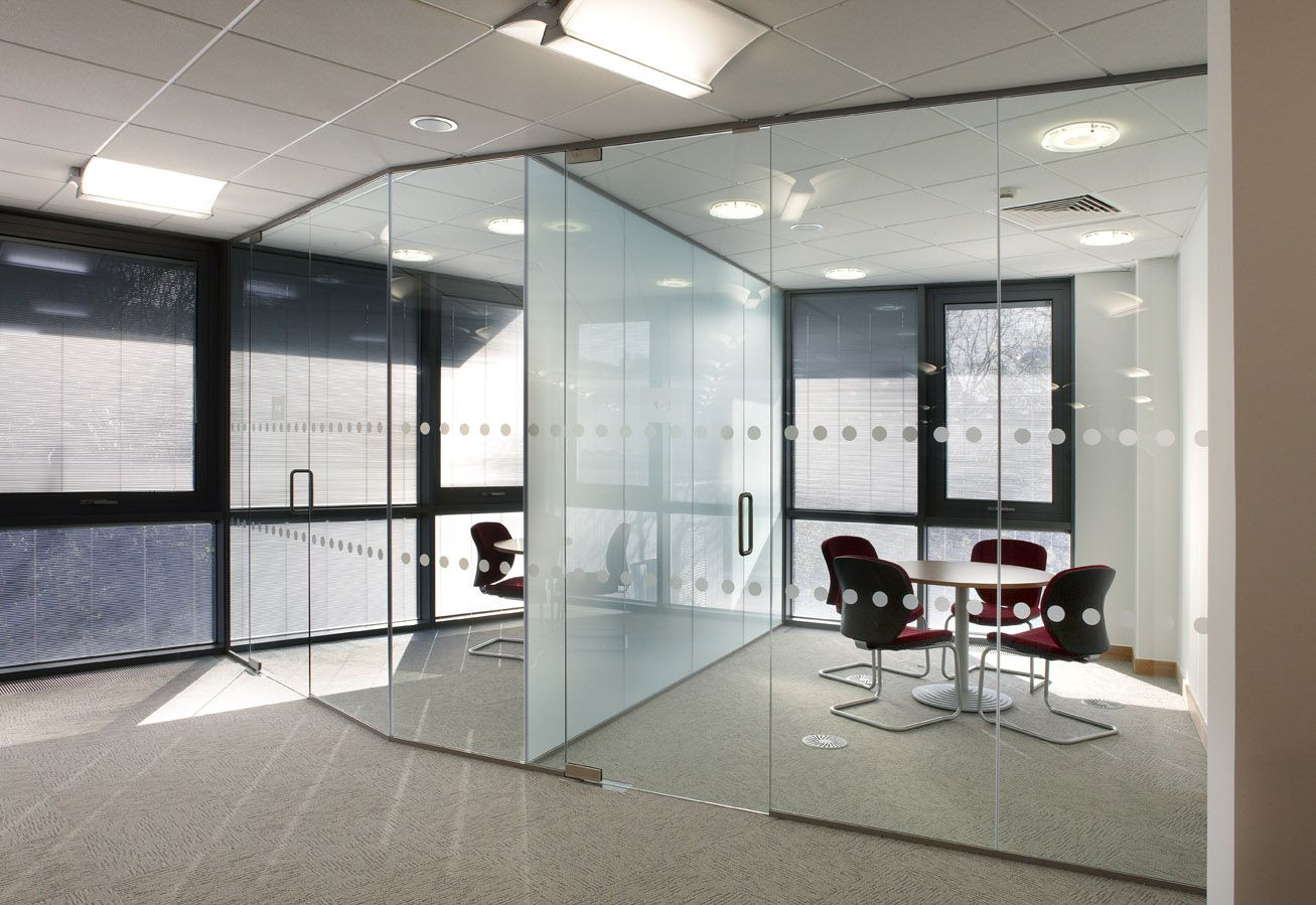 office partition glass walls photo - 8