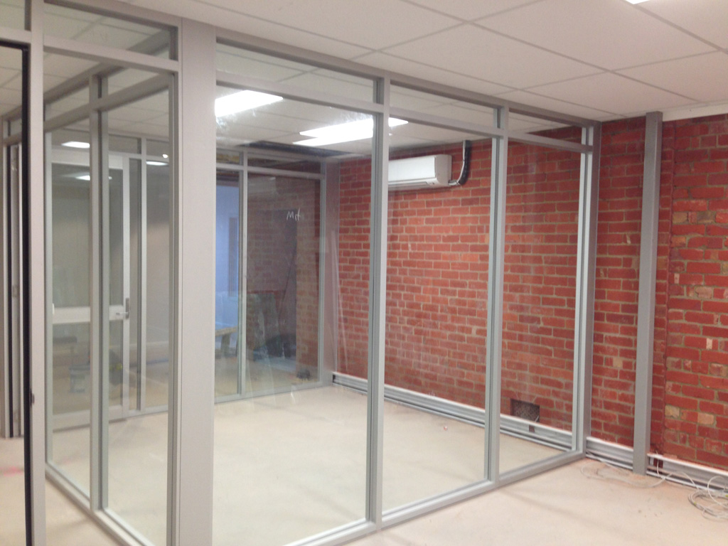 office partition glass walls photo - 9