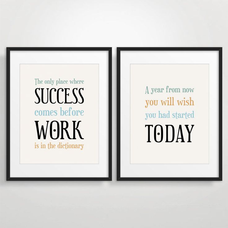 office wall decor motivational photo - 5