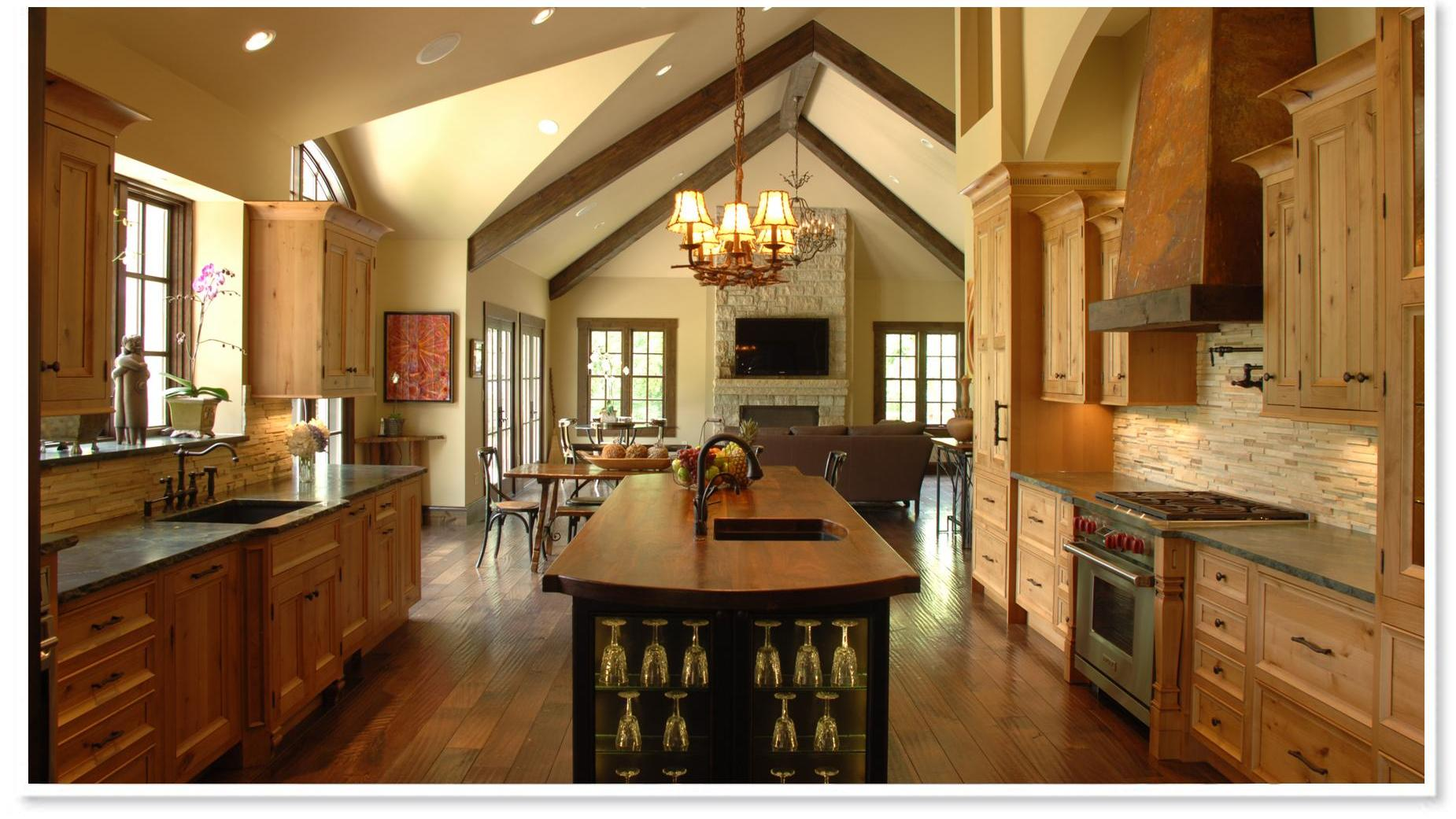 open country kitchen designs photo - 7