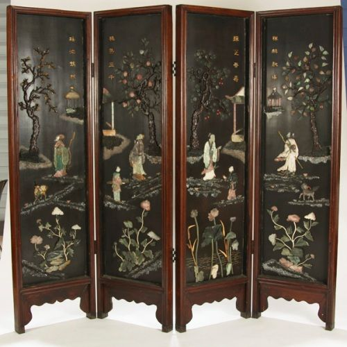 oriental room dividers antique photo - 1
