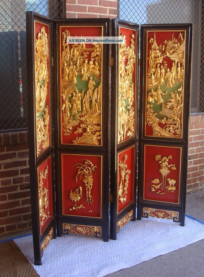 oriental room dividers antique photo - 3