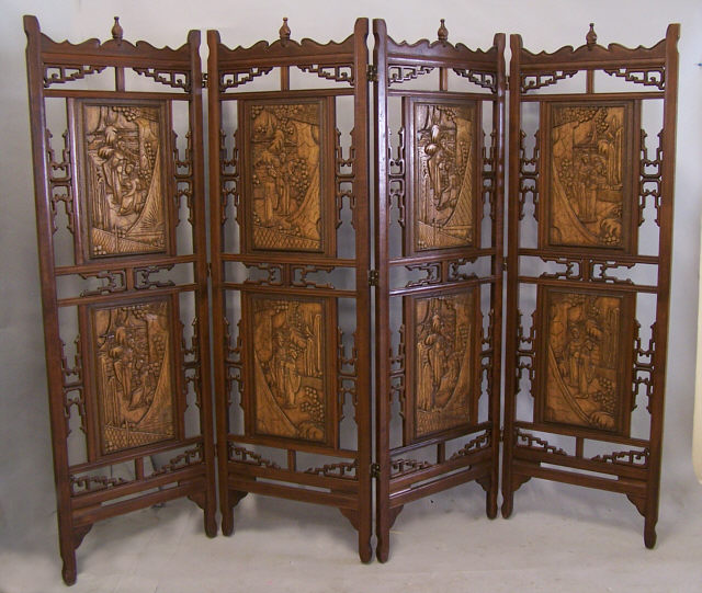 oriental room dividers antique photo - 5