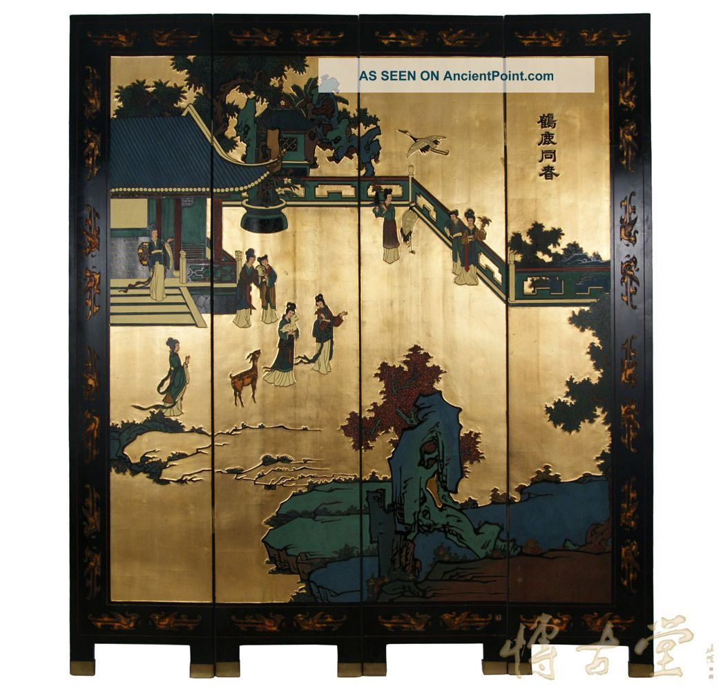oriental room dividers antique photo - 6