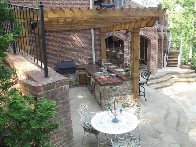 outdoor bar and grill designs photo - 10