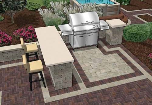 outdoor bar and grill designs photo - 3