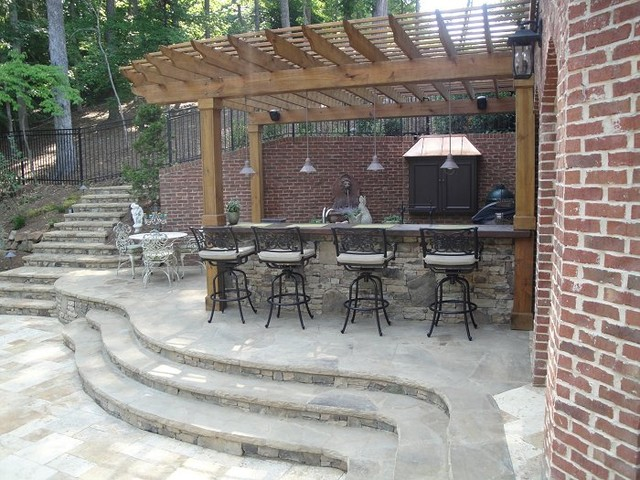 outdoor bar and grill designs photo - 6
