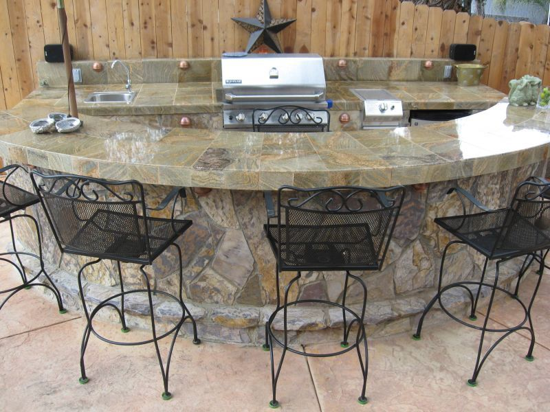 outdoor bar and grill designs photo - 7