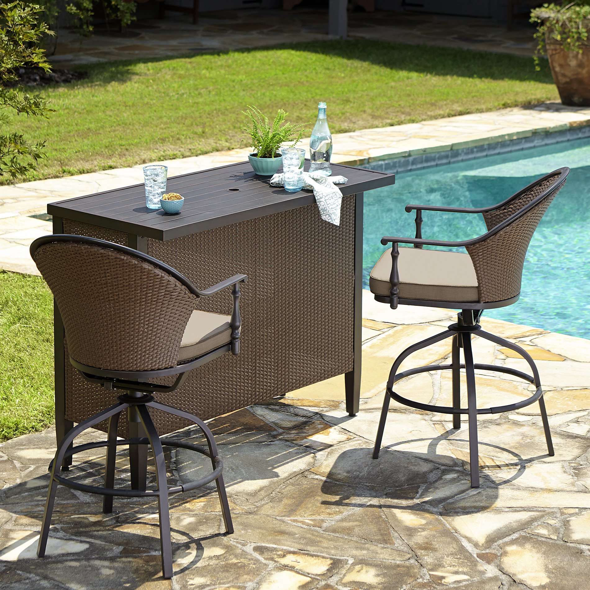 outdoor bar sets sears photo - 8