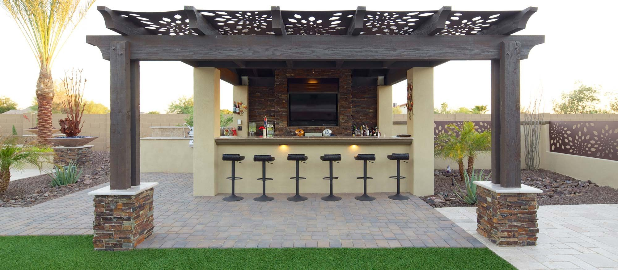 outdoor bbq bar designs photo - 10