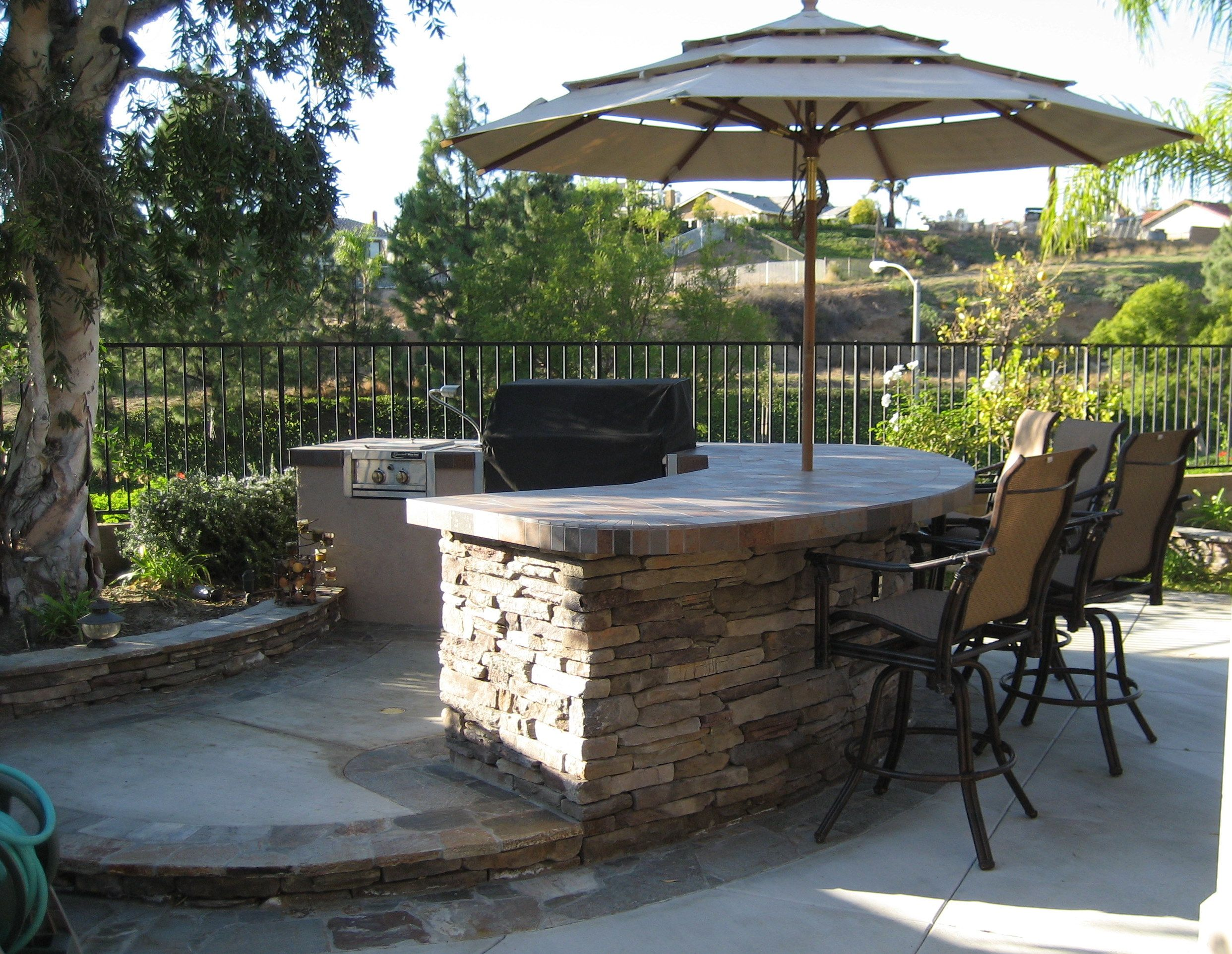 outdoor bbq bar designs photo - 8