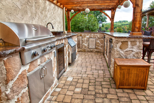 outdoor country kitchen designs photo - 3