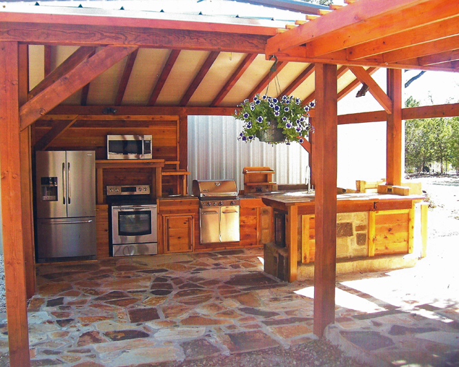 outdoor country kitchen designs photo - 9
