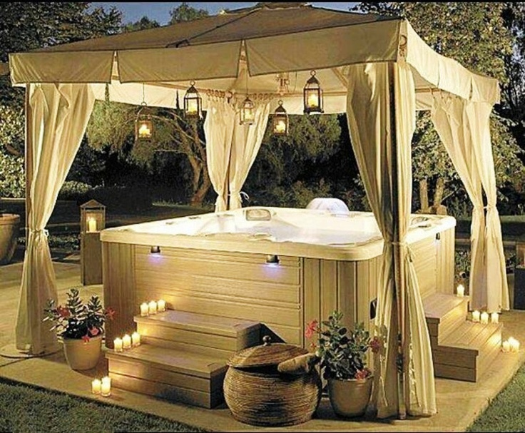 outdoor curtains for hot tub photo - 5