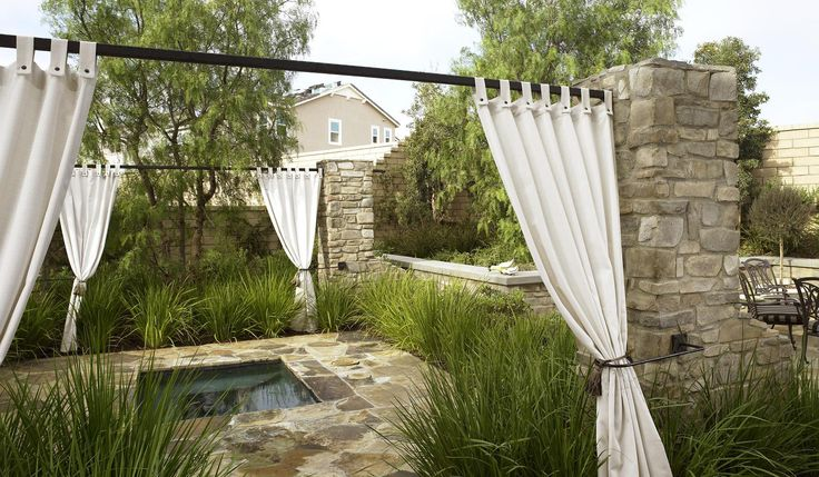 outdoor curtains for hot tub photo - 7