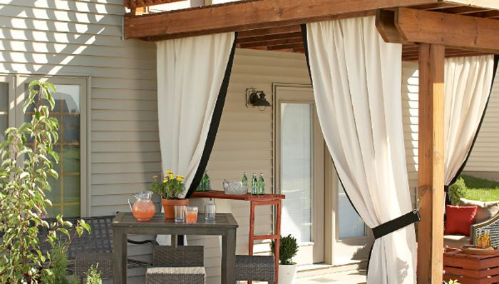 outdoor curtains for hot tub photo - 9