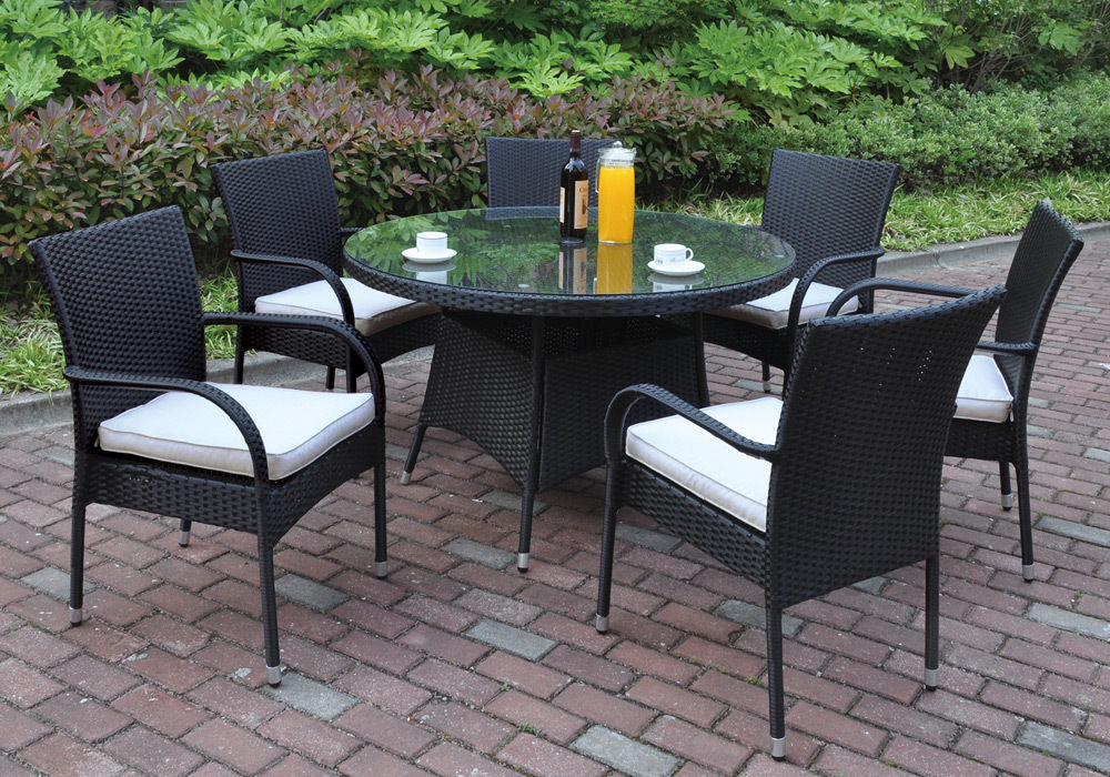 outdoor dining sets black photo - 10
