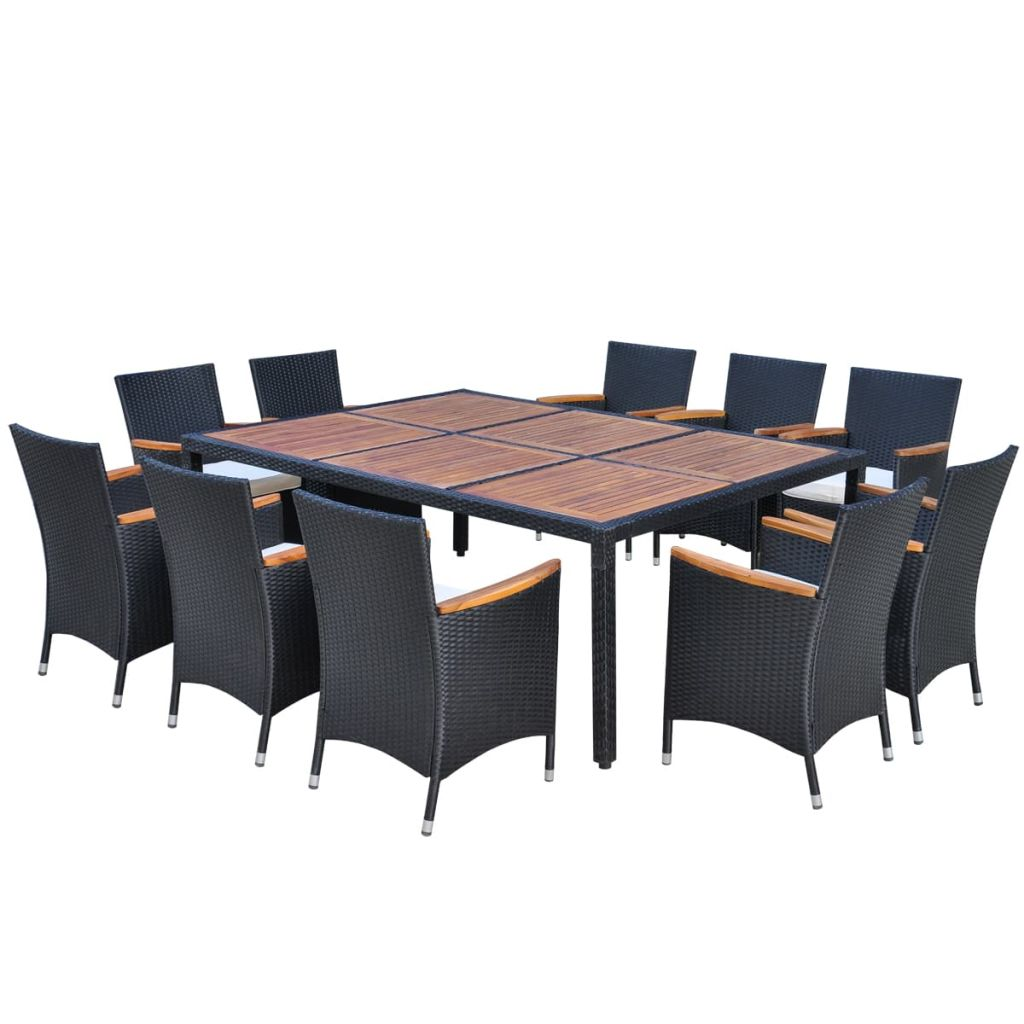 outdoor dining sets black photo - 6