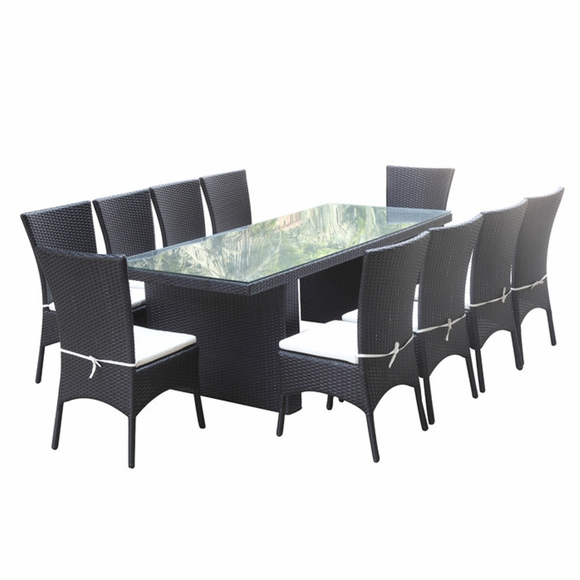 outdoor dining sets black photo - 7