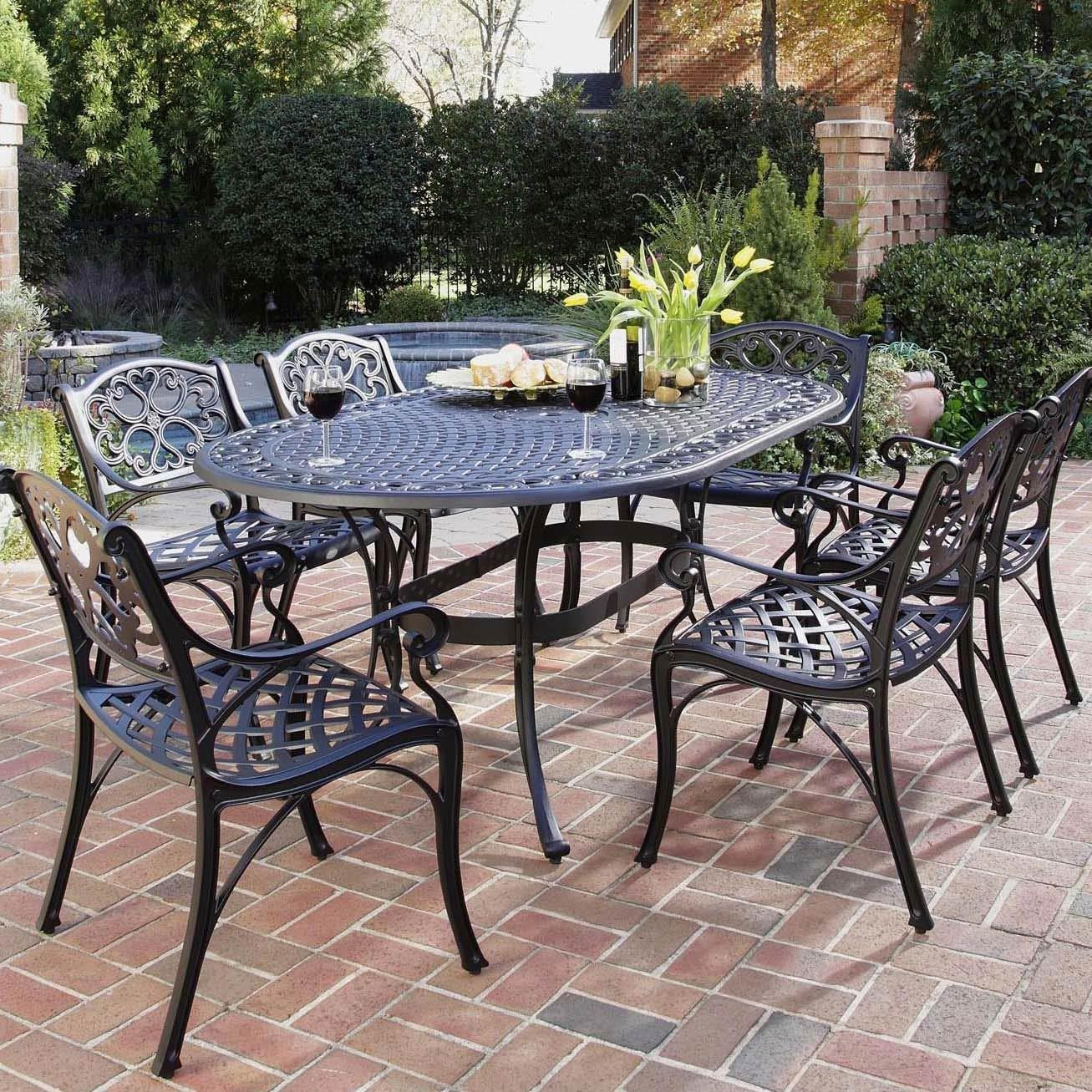 outdoor dining sets black photo - 8