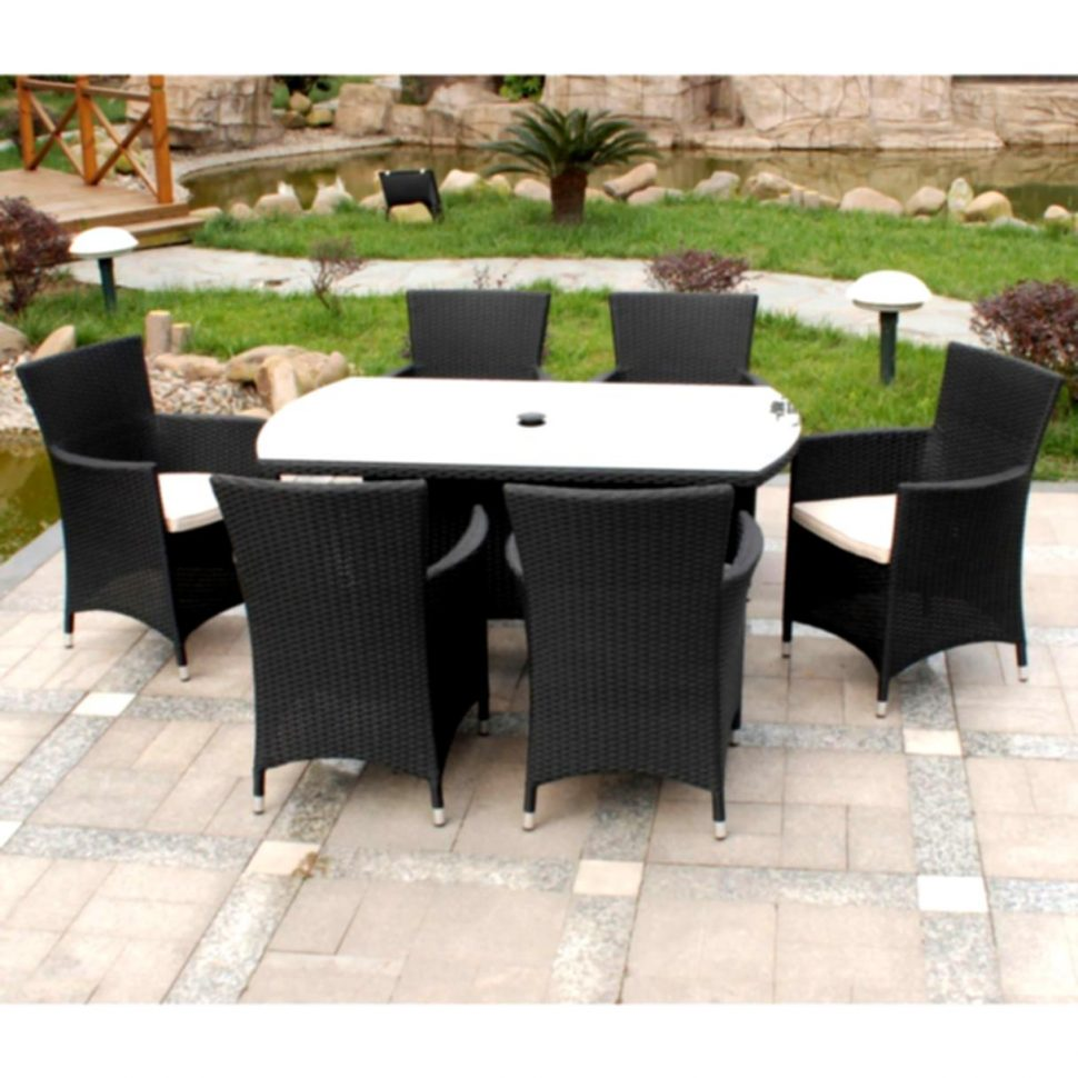 outdoor dining sets black photo - 9