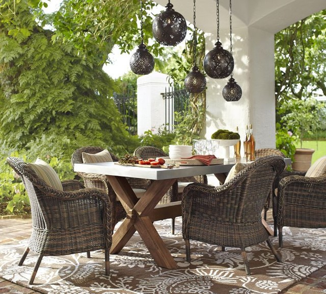 outdoor dining sets pottery barn photo - 6