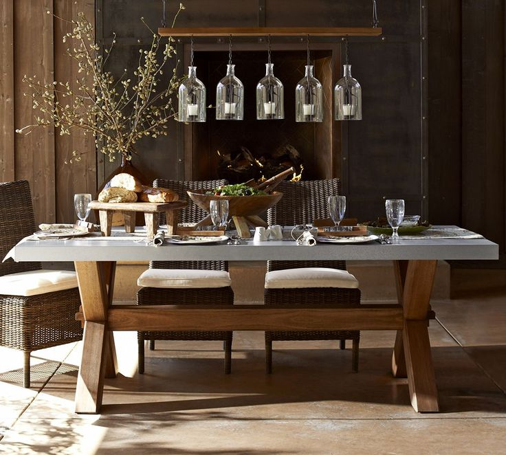 outdoor dining sets pottery barn photo - 7