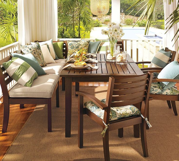 outdoor dining sets pottery barn photo - 9