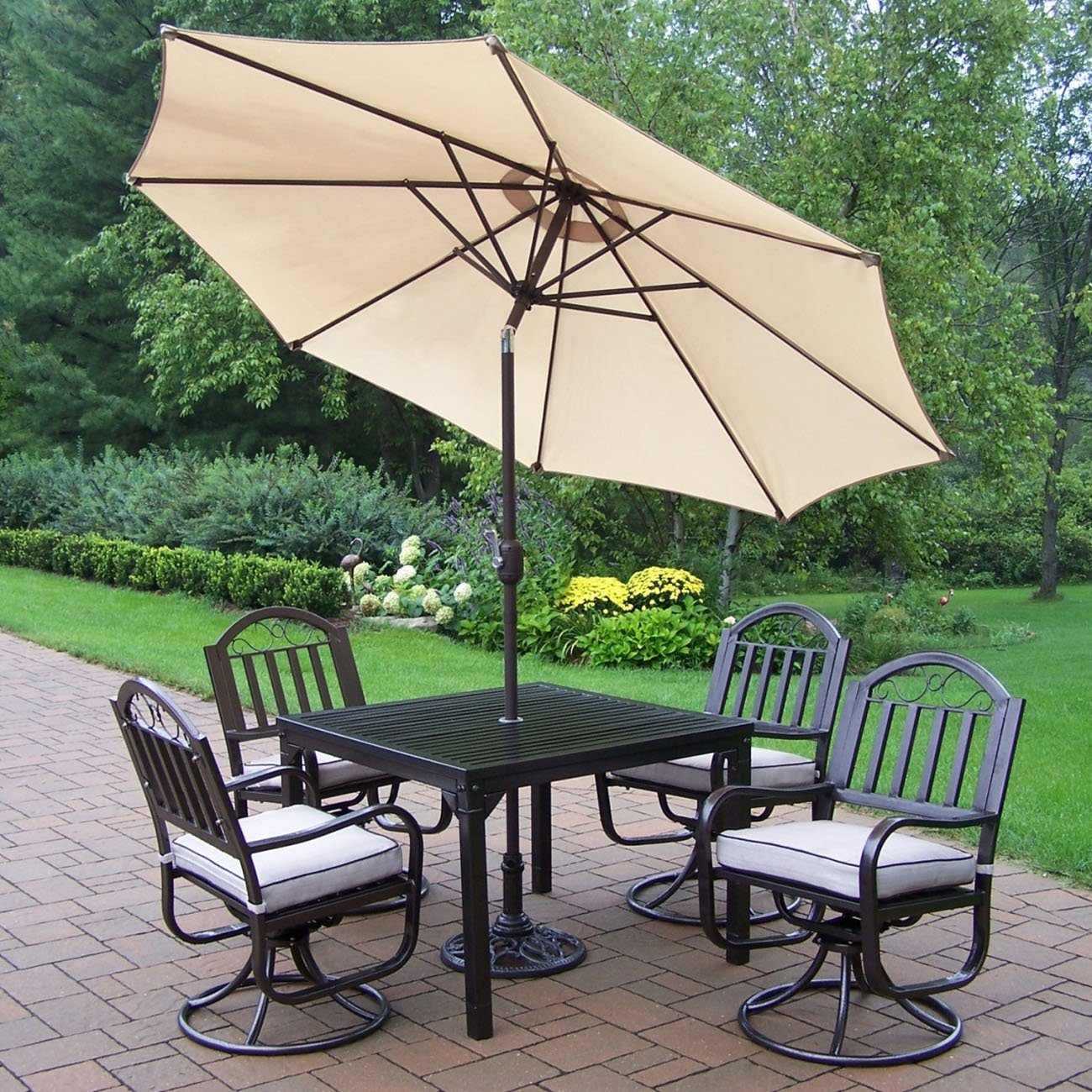 outdoor dining sets with umbrella photo - 4