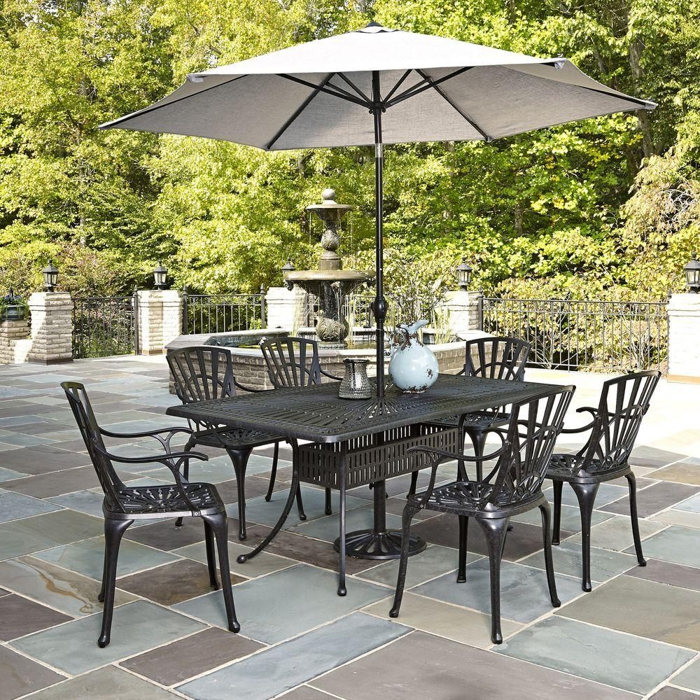 outdoor dining sets with umbrella photo - 7
