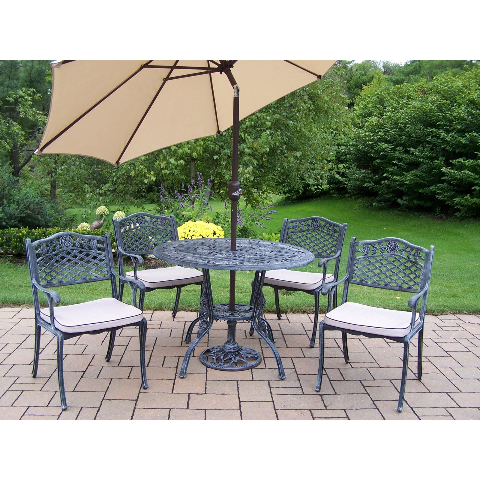 outdoor dining sets with umbrella photo - 8