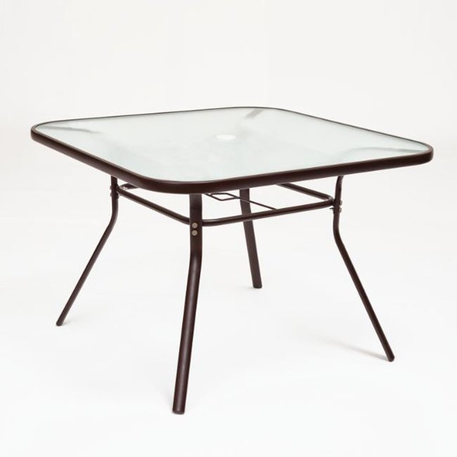 outdoor dining table glass top photo - 4