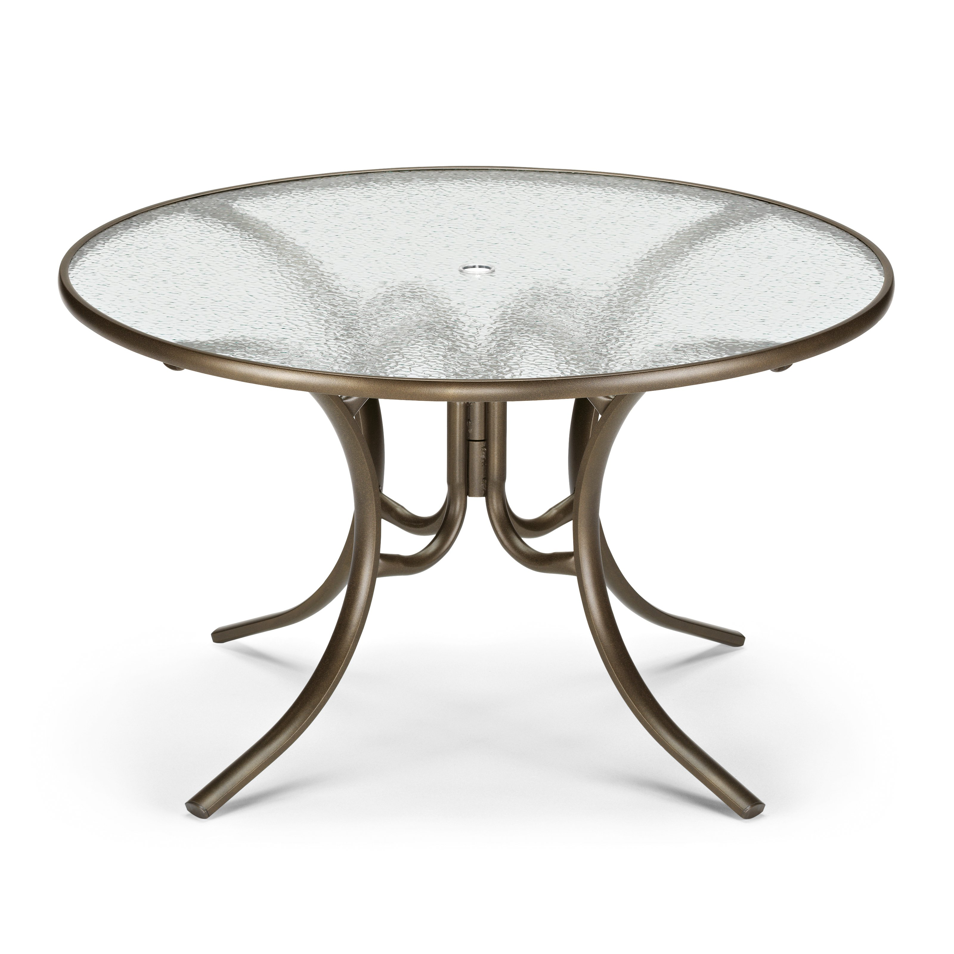 outdoor dining table glass top photo - 7